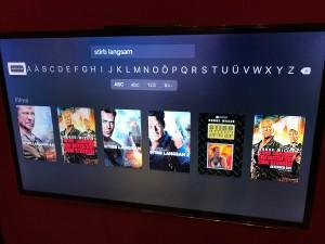 Tastatureingabe vom Handy wird am Apple TV angezeigt