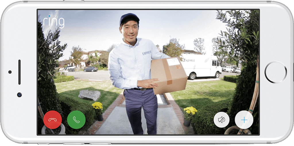 Ring Video Doorbell am Smartphone